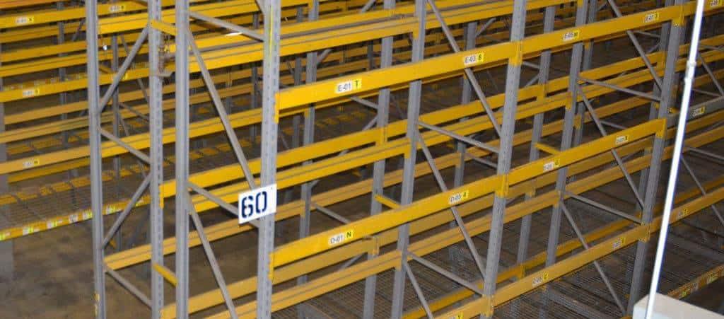 Republic keystone style rack installed in warehouse