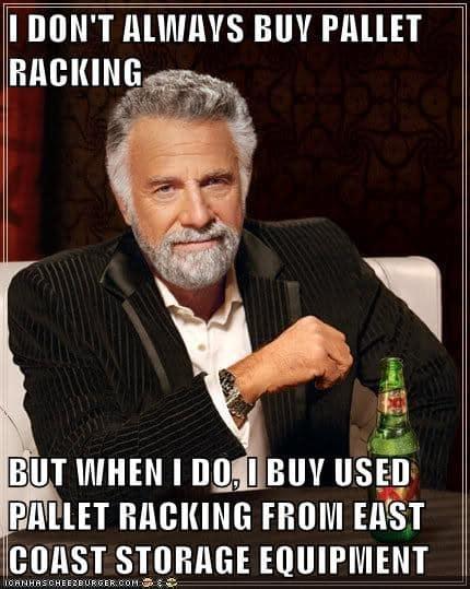 meme used pallet racking