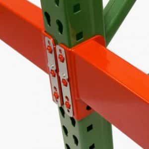 Roll formed pallet rack