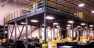 Mezzanine Structure in Warehouse