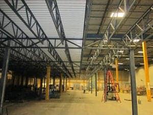 Mezzanine structure installation