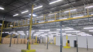 Used Mezzanine structure for sale: 135' x 77'