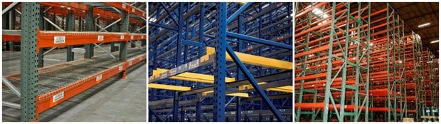 We offer all styles and brands of used pallet rack