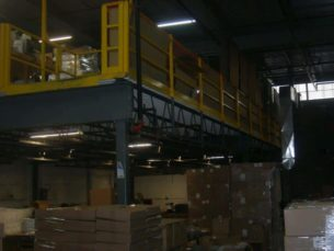 Used Schmidt structural mezzanine - 30' x 60' - side view