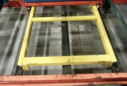 Used Steel King pushback components - carts, rails and beams