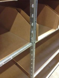 "Used 24"" deep Lozier shelves closeup"