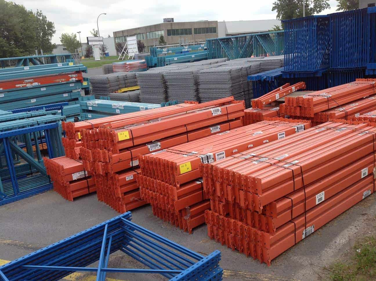 Used-teardop-rack-frames-beams-stacked