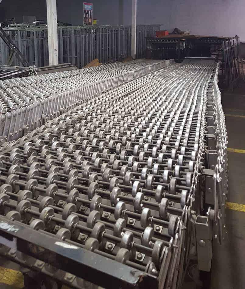 "Used Best Flex conveyor 30"" x 100' (extended)"