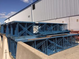 "Used structural frames 44"" x 21'"
