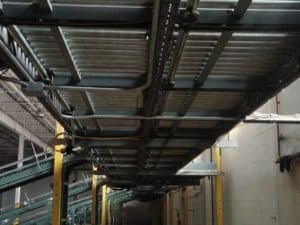 """Buschman 30"""" Accuglide installed in system with Hytrol inclines"""