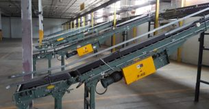 Hytrol inlines installed in power conveyor system