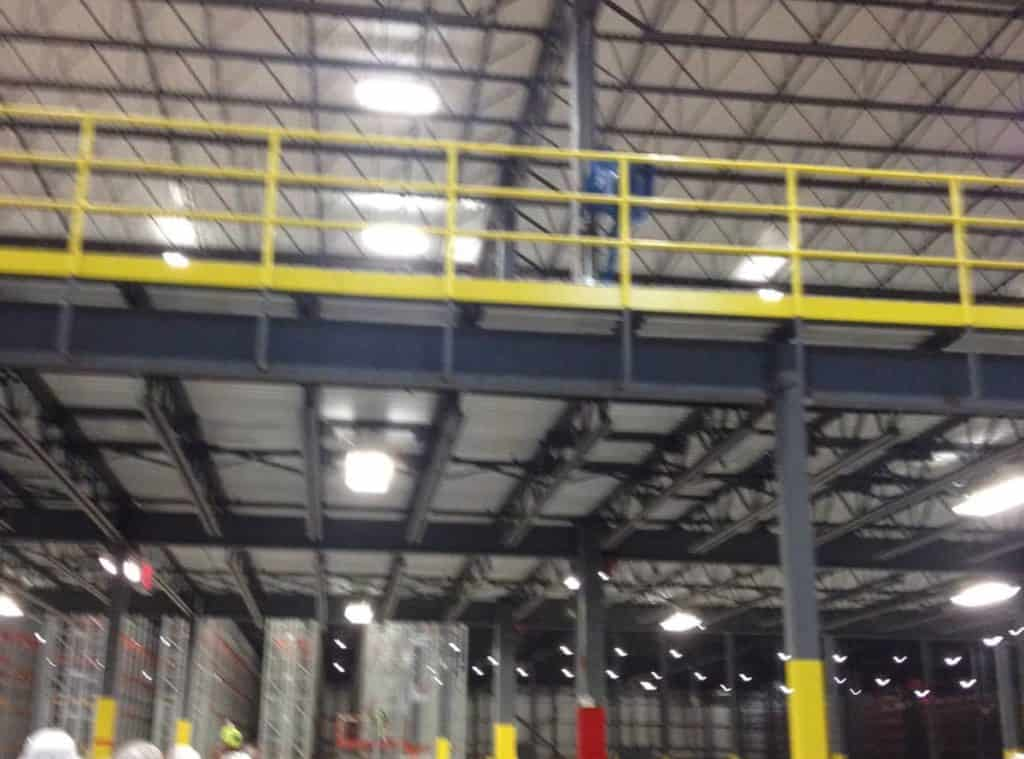 Mezzanine with steel decking - 95,000 sq ft