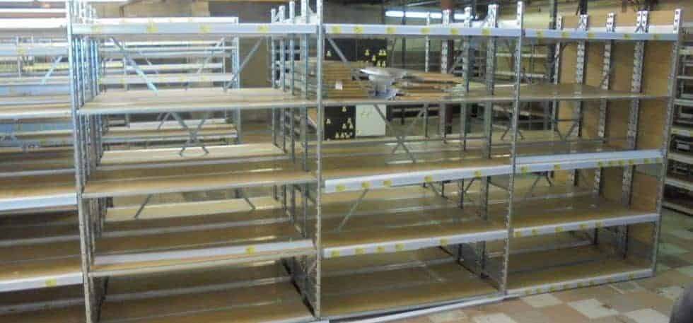 Used Lozier Backroom installed in warehouse