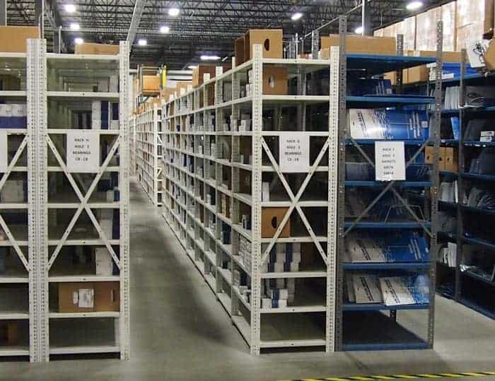 Used Clip Style Steel Shelving – 24″D & 30″D