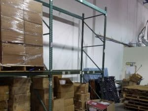 "Teardrop pallet rack - 42"" deep x 12' uprights and 96"" long x 3-1/2"" face beams"