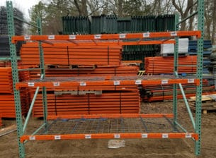 "Section of Used Interlake Pallet Rack, 48"" deep x 8' tall"