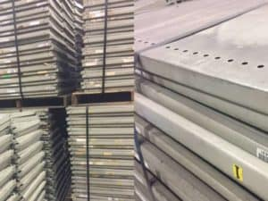 Used InterRoyal Clip shelving down and stacked.