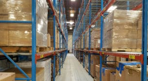 """Prest pallet rack system - 42"""" x 22' uprights and 96"""" x 3"""" beams"""