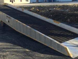 Used Copperloy yard ramp 37 ft long x 70 inches wide