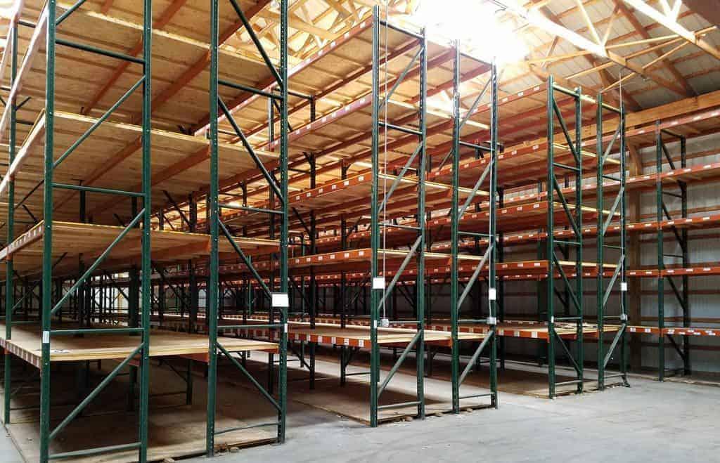 Used Ridg-U-Rak pallet rack standing