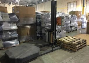 Orion stretch wrapper in a warehouse