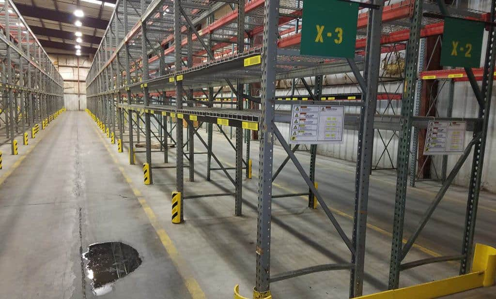 Used Teardrop Pallet Rack – 36″ x 14/18′-9″ x 90/96/144″