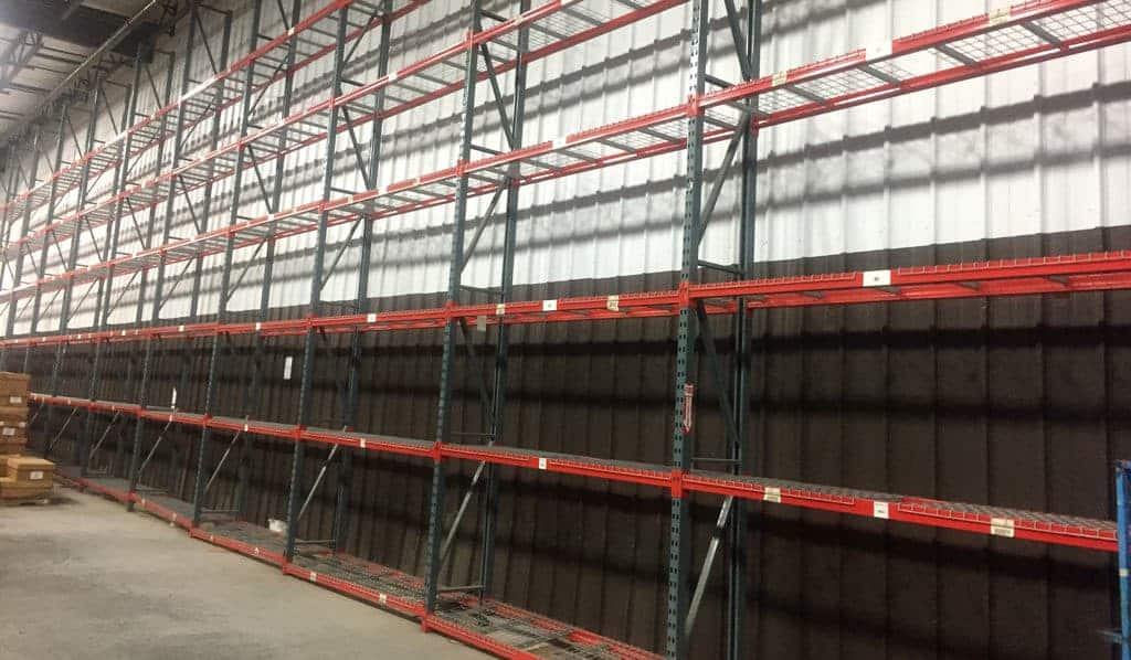 """Interlake New Style pallet rack - 24"""" deep x 22' tall frames and 102"""" long x 4"""" face new style beams"""