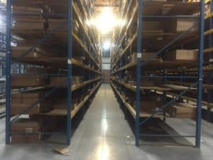 "Keystone pallet rack - 48"" and 60"" deep x 22' tall keystone frames and 96"" x 4"" keystone beams"