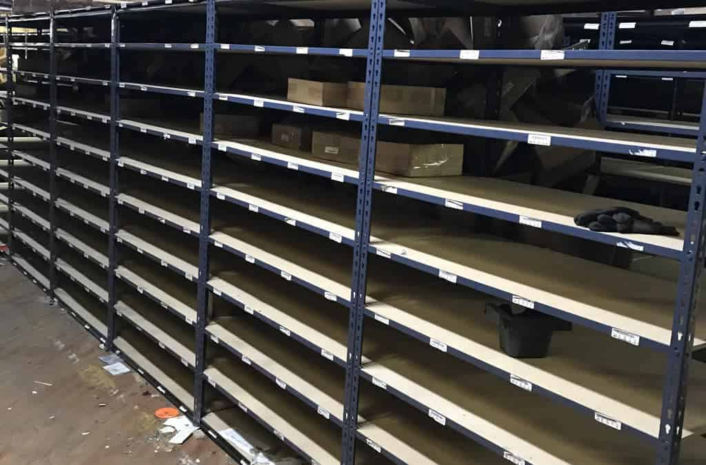 Used Rivet Shelving Blowout – 24″D x 48″W x Various Heights