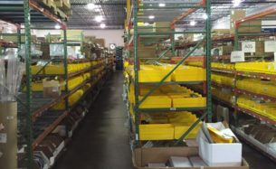 """Teardrop pallet rack - 36"""" and 42"""" deep frames x 8' and 12' tall with 96"""" long beams"""