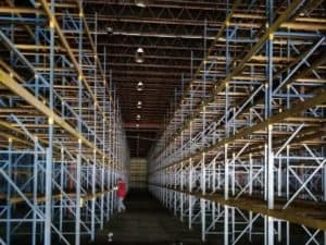 """Frazier structural rack - 36"""" x 20' frames and 108"""" x C-4"""" beams"""