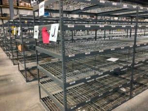 "Rivet shelving 30"" x 48"" deep in warehouse"