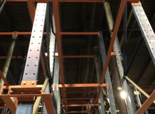 Below angled few of a Frazier drive-in rack bay.