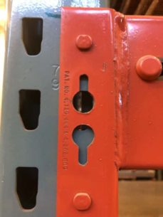 Closeup of new style beam and frame