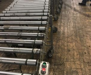 Used Nestaflex Powered Roller Conveyor - 30