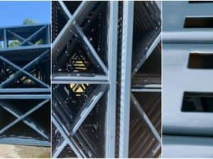 """42"""" x 24' T-Bolt pallet rack upright frames"""