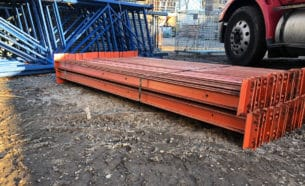 "96"" long x 3"" Frazier structural beams - front angle"