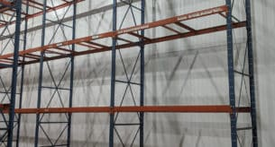 "Frazier structural pallet rack system - 42"" x 20 uprights frames and 96"" x 4"" beams"