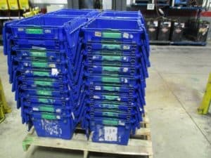 ORBIS Stack-N-Nest distribution container