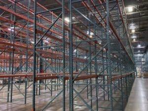 Interlake new style pallet rack installed in distribution center