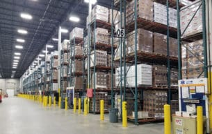 Burtman pallet rack system installed in warehouse