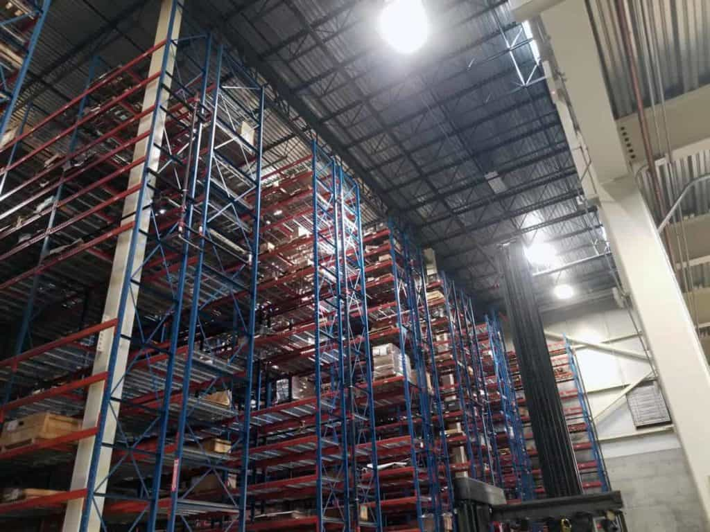 Frazier structural pallet rack installed side view