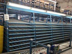 Kingway carton flow rack, blue