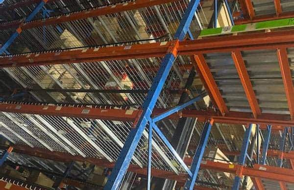 Frazier structural pallet rack product standing in warehouse